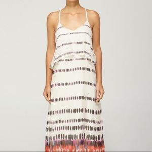 QUIKSILVER watercolor maxi dress XS